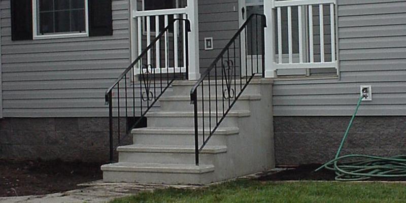 6 riser concrete step