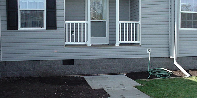side of house without step - before image