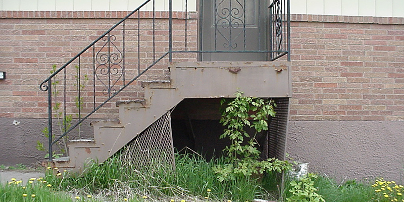 6 concrete step before image